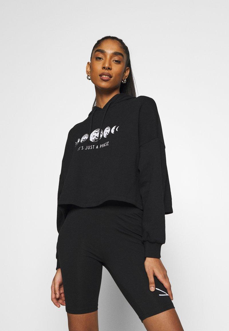 Even&Odd - Printed Oversized Sweatshirt - Sudadera - black