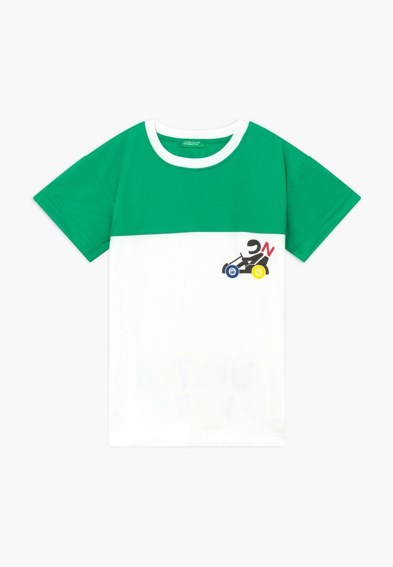 Benetton - Print T-shirt - green