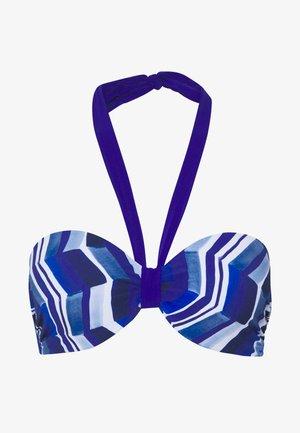 DEEP SEA BANDEAU SCHALE - Bikini top - blue waves