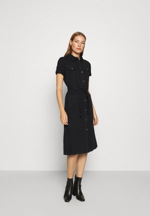 DRESS - Denim dress - black