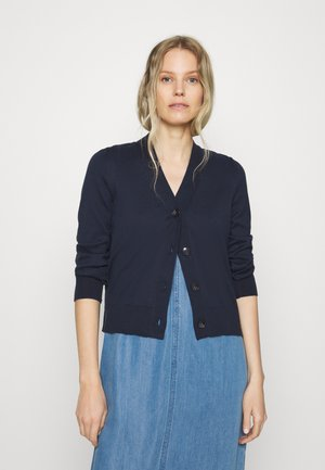 CARDIGAN LONG SLEEVE V-NECK BUTTON CLOSURE - Cardigan - dark night