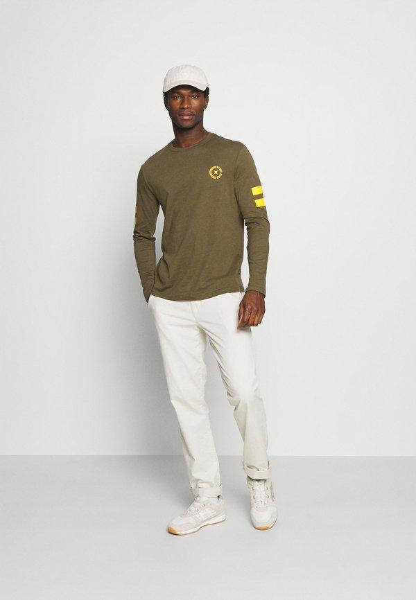Pier One Bluzka z długim rękawem - olive/oliwkowy Odzież Męska MGHW