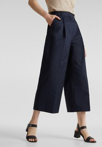 Esprit Collection - HIGH RISE CULOTTE - Trousers - navy - 3