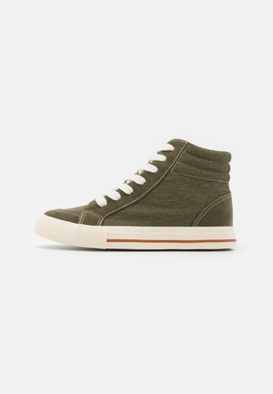 JOEY TRAINER - High-top trainers - dusty green/white