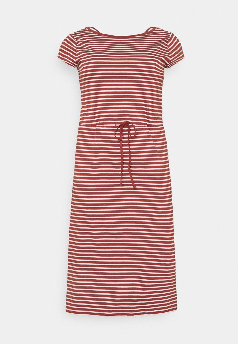 ONLY Carmakoma - CARAPRIL LIFE STRING DRESS - Jersey dress - apple butter/cloud