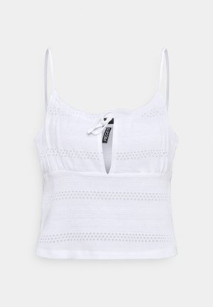 PCTAYLEES SHORT STRAPPED TOP - Blusa - bright white