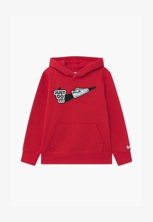 HOOK LOOP TAPE  - Sweat à capuche - university red/black