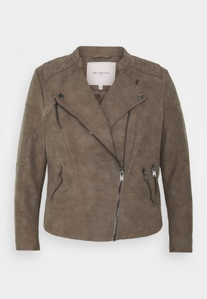 CARAVANA  - Faux leather jacket - walnut