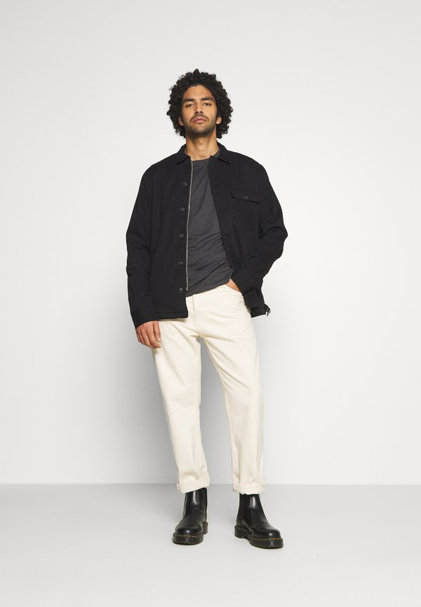 AllSaints BRACE CONTRAST CREW - T-shirt basic - soot black marl/czarny Odzież Męska RCZS