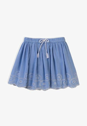 A-line skirt - blue grey