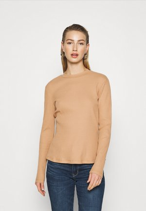 Long sleeved top - camel