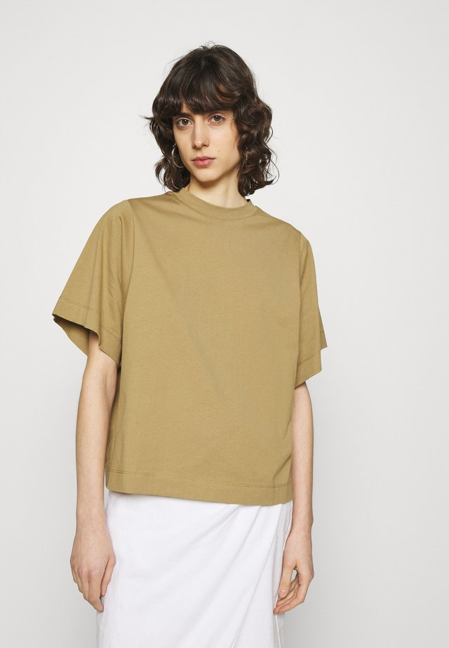 SLFPALM HIGH NECK TEE - Basic T-shirt - kelp