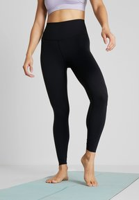 Nike Performance - THE YOGA LUXE - Tights - black/dark smoke grey - 0