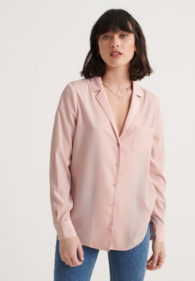 Button-down blouse - soft pink
