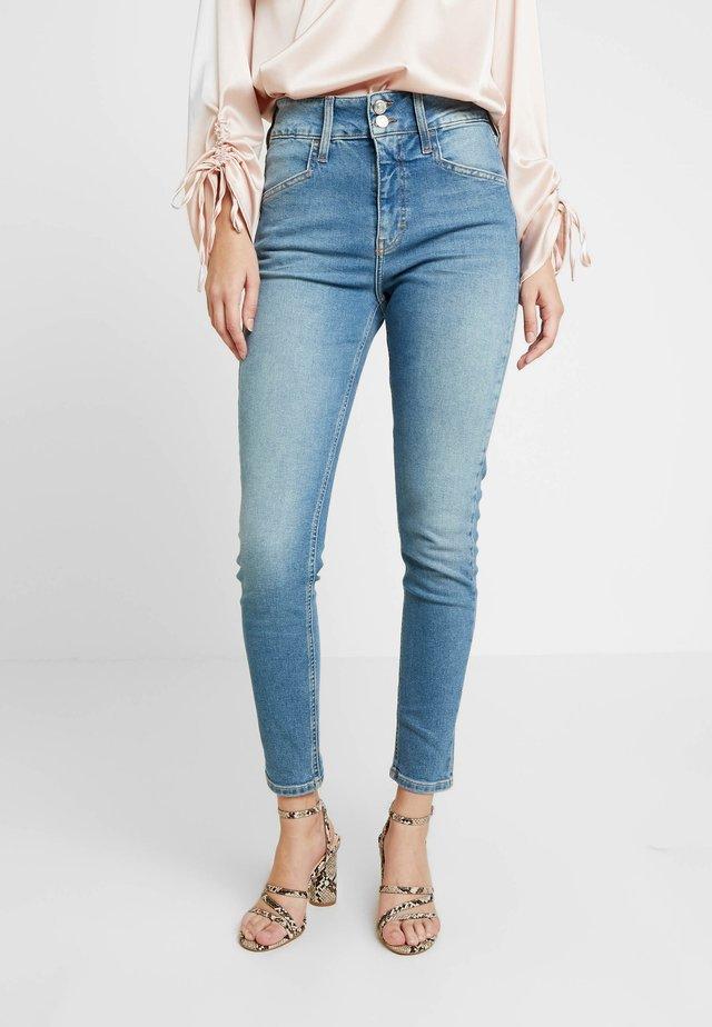 BUTTON JAMIE - Skinny džíny - mid blue