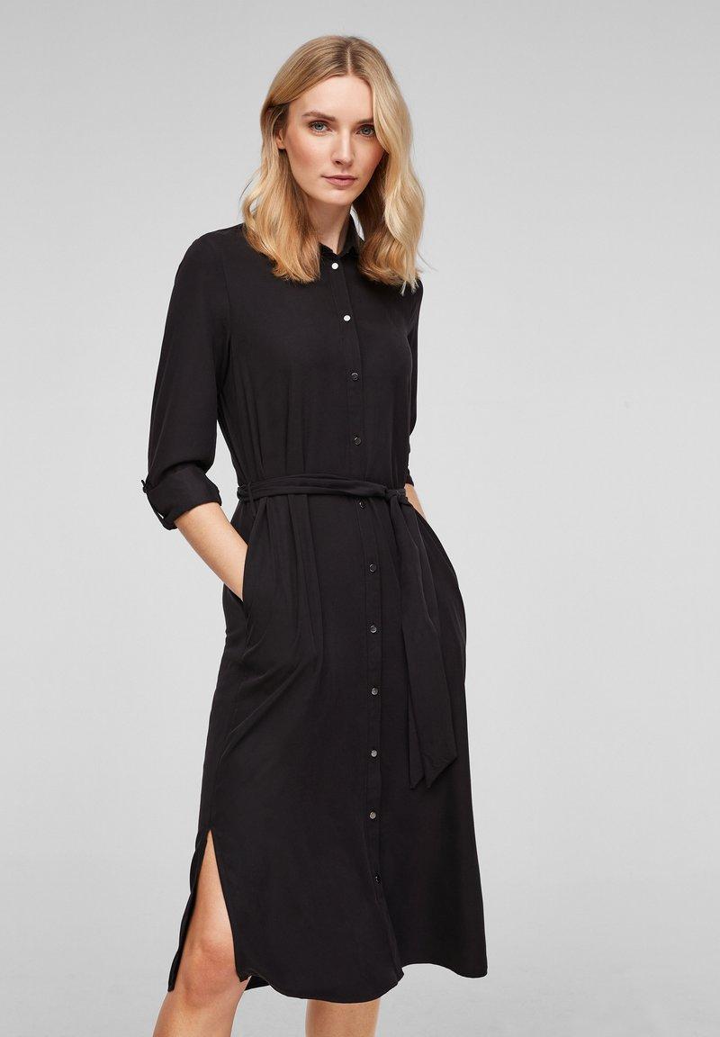 s.Oliver - Shirt dress - black