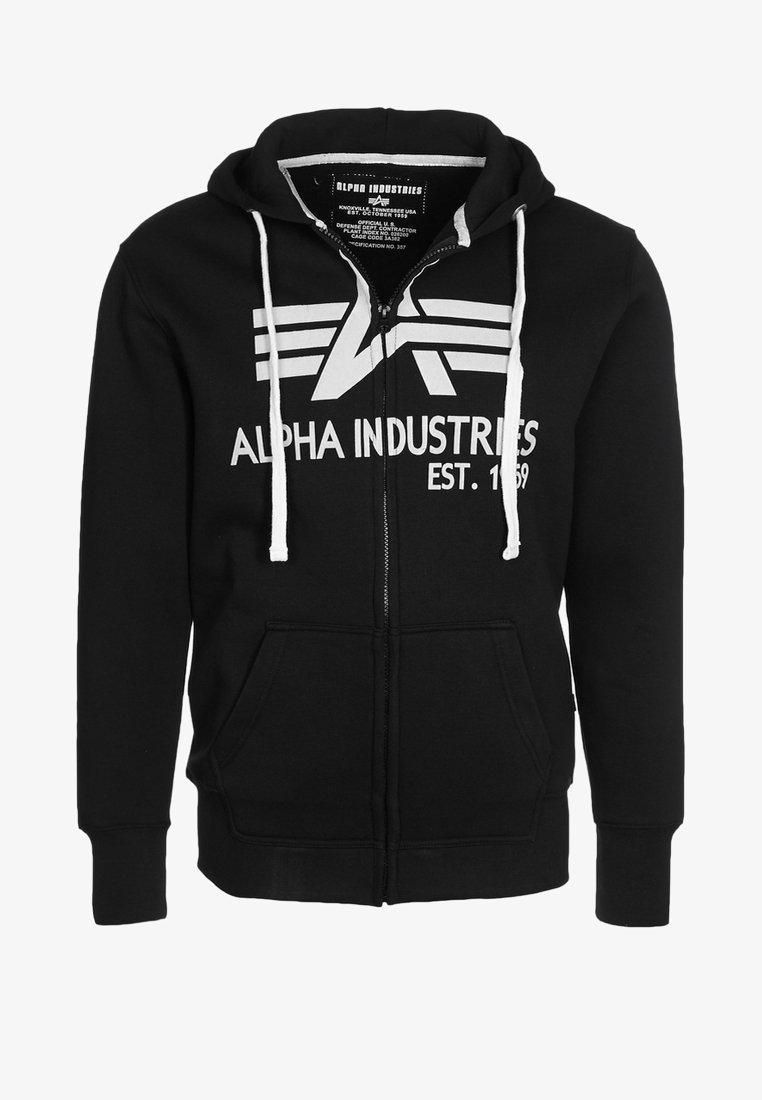 Alpha Industries - BIG A - Zip-up hoodie - black