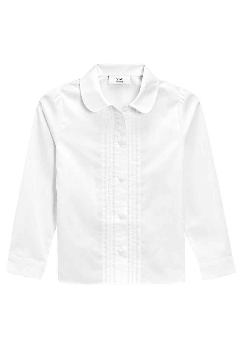 Next - WHITE LONG SLEEVE LACE TRIM BLOUSE (3-14YRS) - Button-down blouse - white