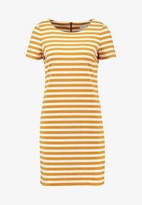 Vila - VITINNY NEW DRESS - Shift dress - golden oak/snow white - 5