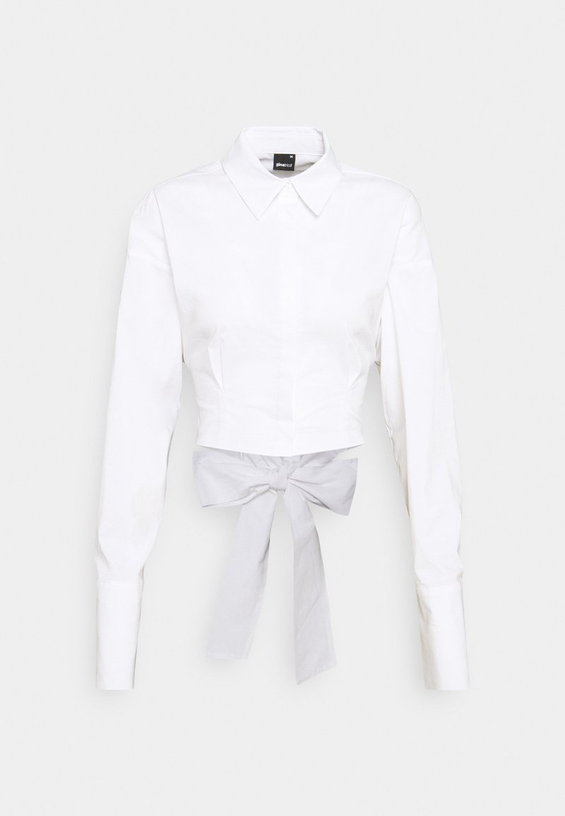 Gina Tricot - MEYA OPEN BACK SHIRT - Skjorte - offwhite
