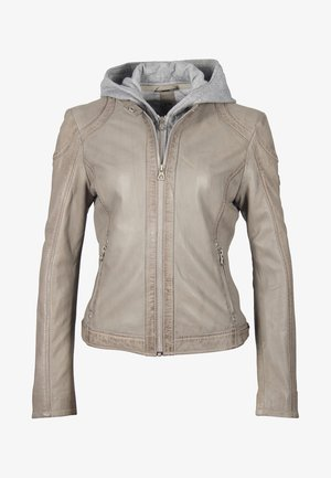 AELLY LAMAS - Giacca di pelle - light grey