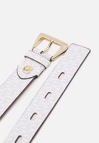 MICHAEL Michael Kors - LOGO BELT - Belt - optic white/luggage - 1