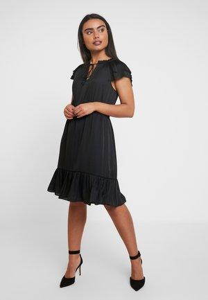 SOFT TIE NECK - Sukienka koktajlowa - black
