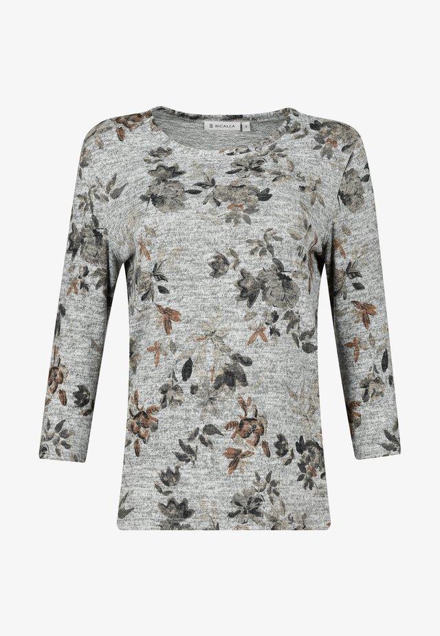 T-shirt print - silver sand