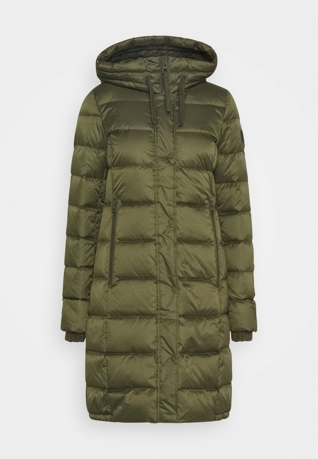 Down coat - natural olive
