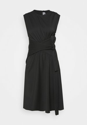 WRAPPED WAIST DRESS - Koktejlové šaty / šaty na párty - black