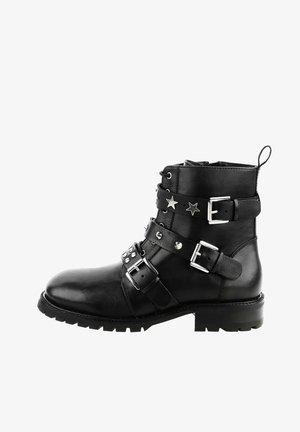 PIASCONA - Cowboy/biker ankle boot - black
