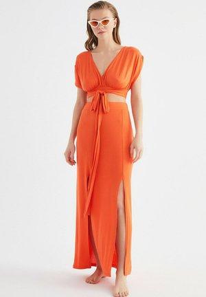 SET - Maxi skirt - orange