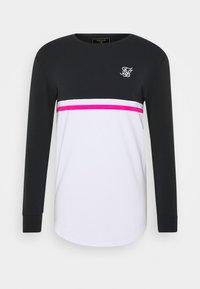 SIKSILK - RETRO STRIPE TEE - Top sdlouhým rukávem - grey/pink/white - 3