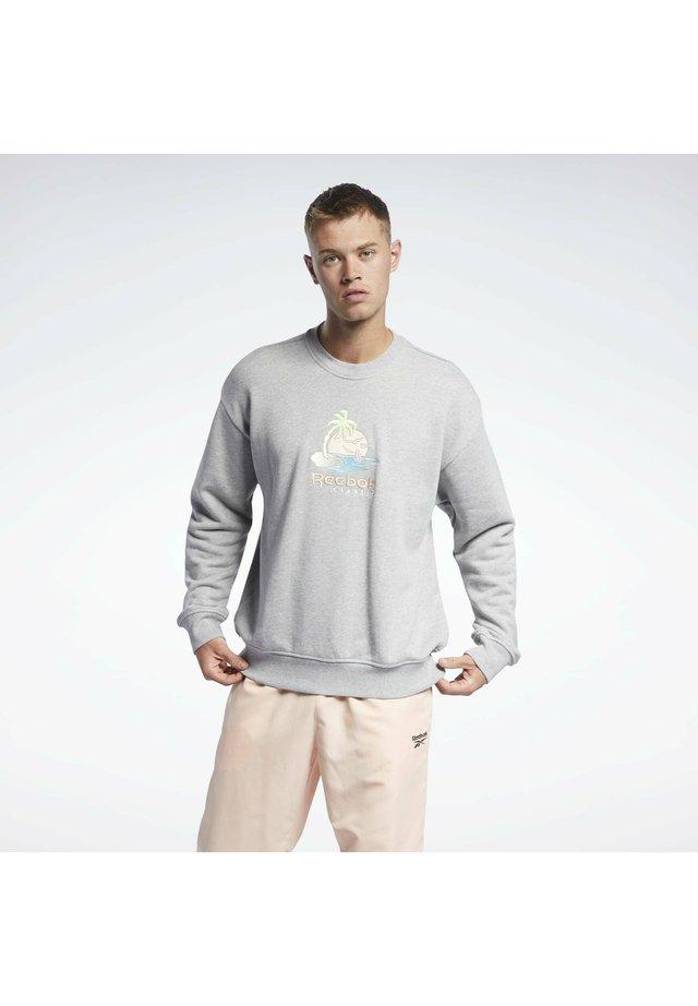 CL SR GRAPHIC CREW - Sweatshirt - medium grey heather