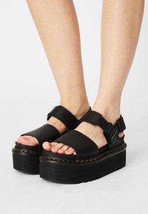 VOSS QUAD - Platform sandals - black hydro