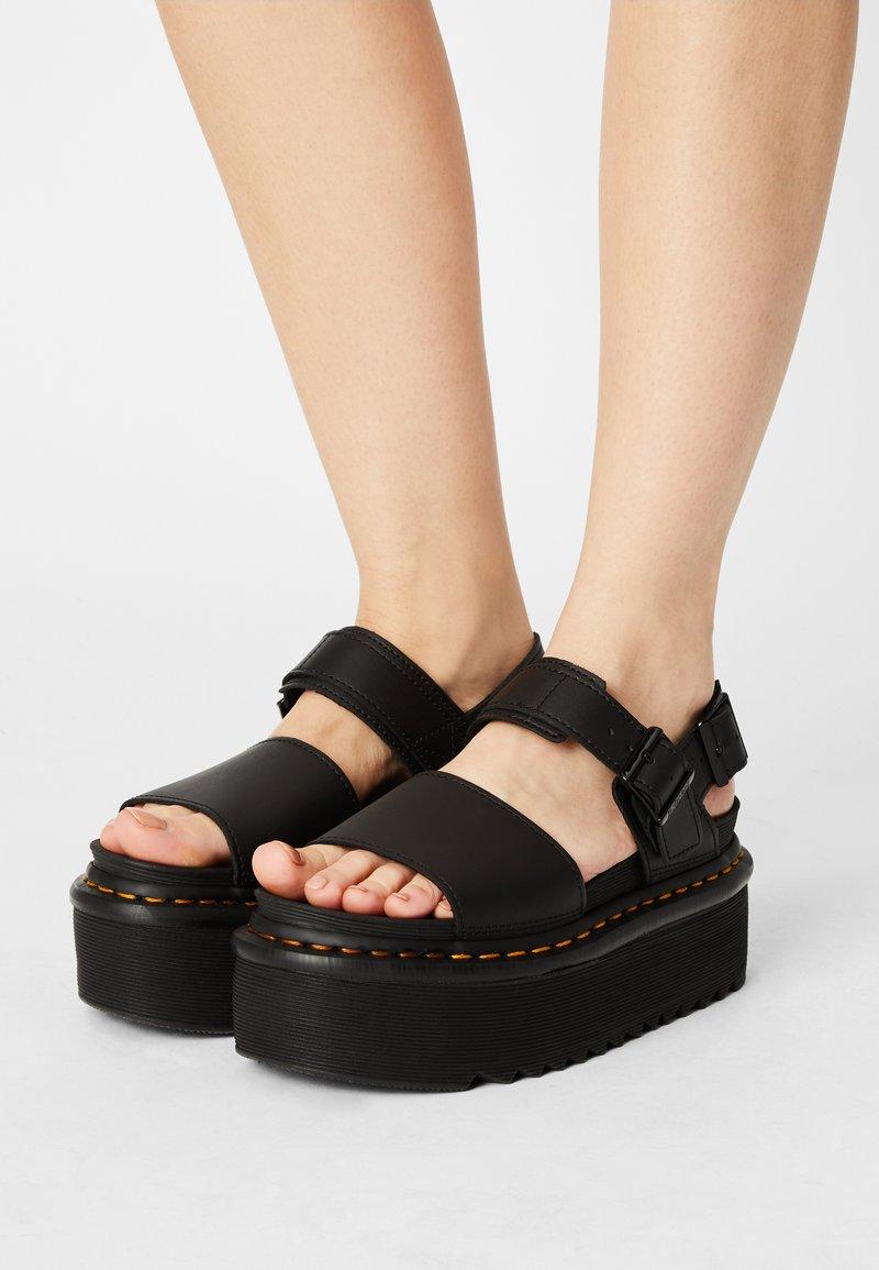 Dr. Martens - VOSS QUAD - Platform sandals - black hydro