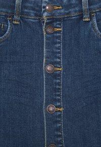 Name it - NKFTECOS A SHAPE SKIRT - A-line skirt - dark blue denim - 2