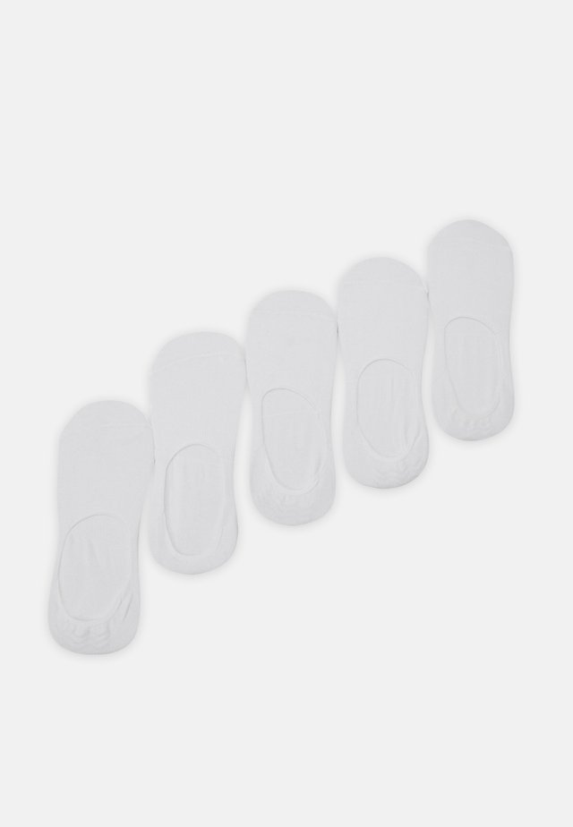 INVISIBLES 5 PACK - Trainer socks - white