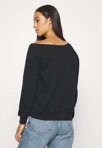 Even&Odd - LOOSE OFF SHOULDER SWEATSHIRT  - Sweater - black - 2