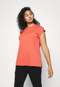 Ragwear Plus - DIONE - T-shirt print - chili red - 0