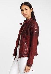 Gipsy - CASCHA LAMOV - Leather jacket - ox red - 3