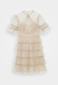 By Malina - LIONA DOTTED DRESS - Cocktailjurk - soft beige - 0