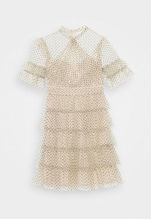 LIONA DOTTED DRESS - Cocktail dress / Party dress - soft beige
