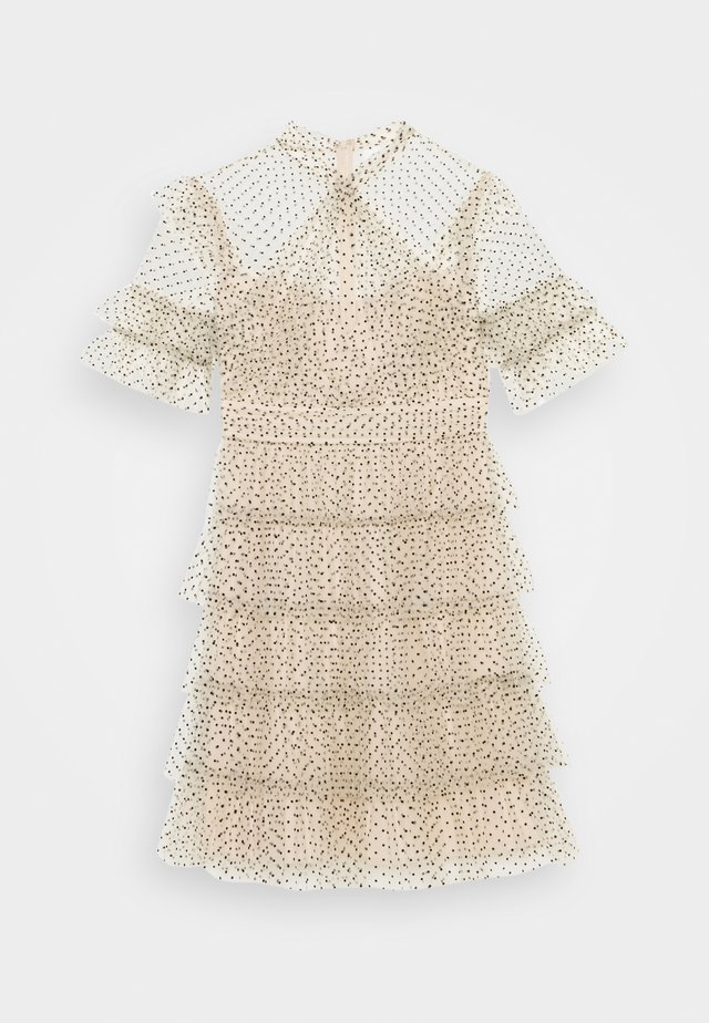 LIONA DOTTED DRESS - Juhlamekko - soft beige