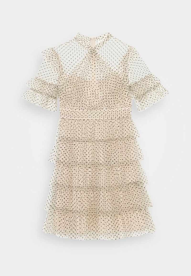 By Malina - LIONA DOTTED DRESS - Cocktailjurk - soft beige