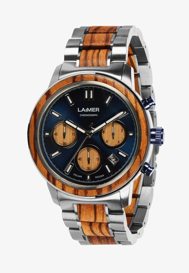 MARVIN - Chronograph watch - silber/braun