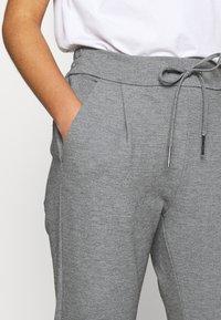 Vero Moda Petite - VMEVA LOOSE STRING PANTS - Bukse - medium grey melange - 5