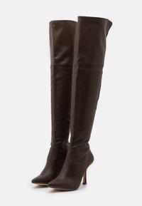 4th & Reckless - FALLON - Kozačky na vysokém podpatku - chocolate - 2