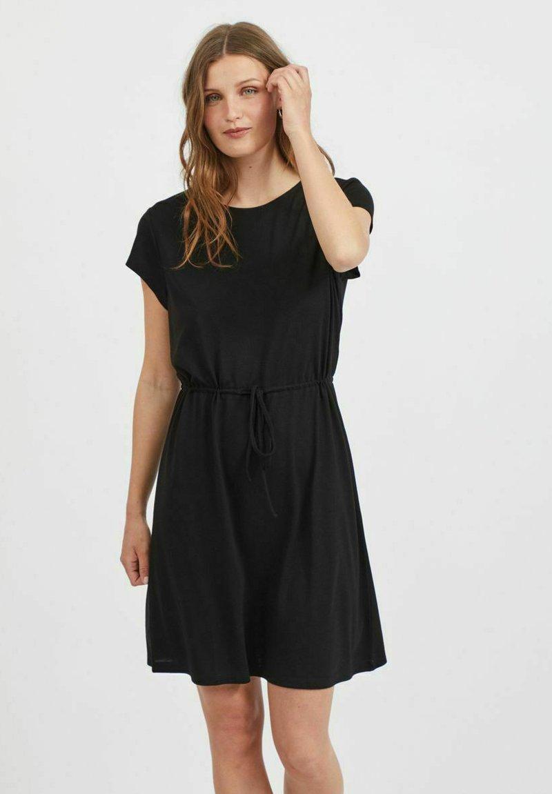 Vila - VIMOONEY STRING - Jersey dress - black