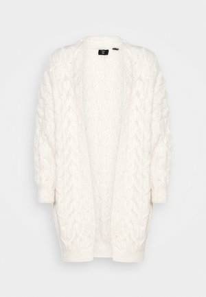 GRACE OVERSIZED CABLE - Cardigan - cream